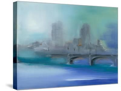 Misty City II-Michele Gort-Stretched Canvas Print