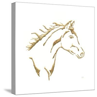 Gilded Filly On White-Chris Paschke-Stretched Canvas Print