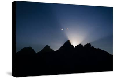 Teton Range At Sunset, Grand Teton National Park, Wyoming, USA-Jay Goodrich-Stretched Canvas Print