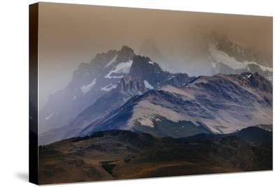 A Storm Over The Peaks Near Mount Fitz Roy In Los Glacieres National Park, Argentina-Jay Goodrich-Stretched Canvas Print