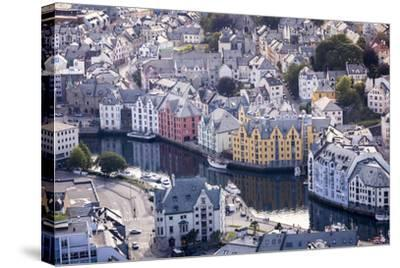 ?lesund, M?re Og Romsdal County, Norway: The Citiy Center Viewed From The Aksla Viewpoint-Axel Brunst-Stretched Canvas Print