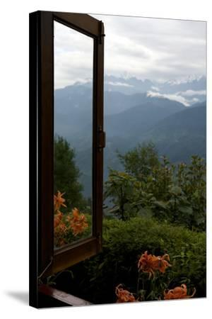 Singalila Ridge And Sikkim Landscape Seen From A Window-Steve Winter-Stretched Canvas Print