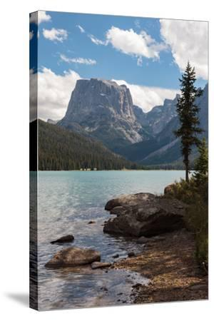 The Shore Of Upper Green River Lake And Square Top Mountain-Greg Winston-Stretched Canvas Print