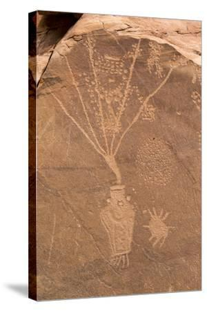 Petroglyph Shapes And Figures Carved Into Sandstone, Dinosaur National Monument-Mike Cavaroc-Stretched Canvas Print