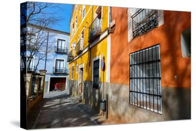 Bekah Herndon Goes For A Run In The Colorful Medieval Old Town Section Of Cuenca, Spain-Ben Herndon-Stretched Canvas Print