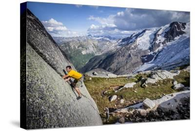 Adam Osuchowski Finds Short 5.8 Trad Line, Applebee Camp, Bugaboos Provincial Park, BC, Columbia-Dan Holz-Stretched Canvas Print