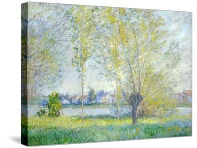 Willows at Vetheuil, 1880-Claude Monet-Stretched Canvas Print