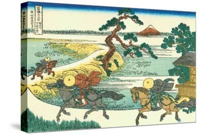 Village of Sekiya at Sumida River, c.1830-Katsushika Hokusai-Stretched Canvas Print