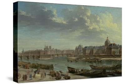 A View of Paris with the Ile de la Cité, 1763-Nicolas Jean Baptiste Raguenet-Stretched Canvas Print