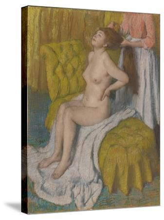 Woman Having Hair Combed, c.1886-88-Edgar Degas-Stretched Canvas Print