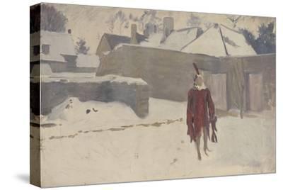 Mannikin in the Snow, c.1893-5-John Singer Sargent-Stretched Canvas Print