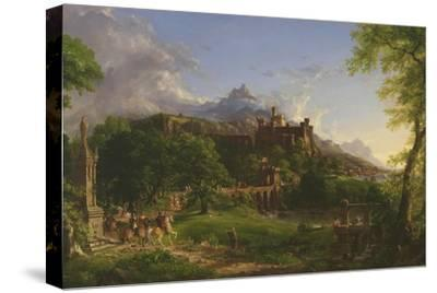 The Departure, 1837-Thomas Cole-Stretched Canvas Print