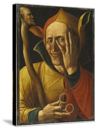 Laughing Jester-Netherlandish School-Stretched Canvas Print
