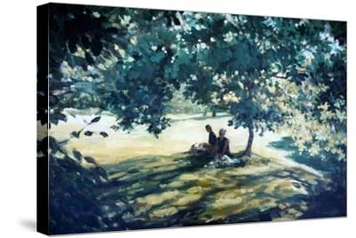Tea In The Garden-Richard Willis-Stretched Canvas Print