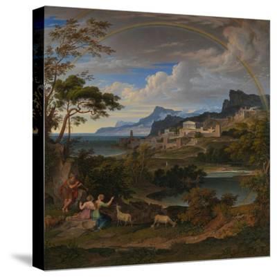 Heroic Landscape with Rainbow, 1824-Joseph Anton Koch-Stretched Canvas Print