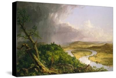 View from Mount Holyoke, Northampton, Massachusetts, after a Thunderstorm—The Oxbow, 1836-Thomas Cole-Stretched Canvas Print
