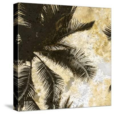 Palm Tree Gold 1-Kimberly Allen-Stretched Canvas Print