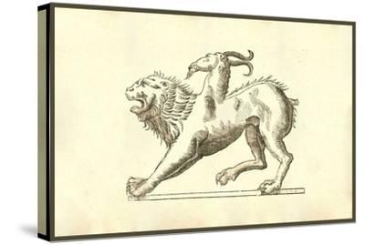 Chimera (Icon Monstrosae Cuiusdam Chimaerae)-Ulisse Aldrovandi-Stretched Canvas Print