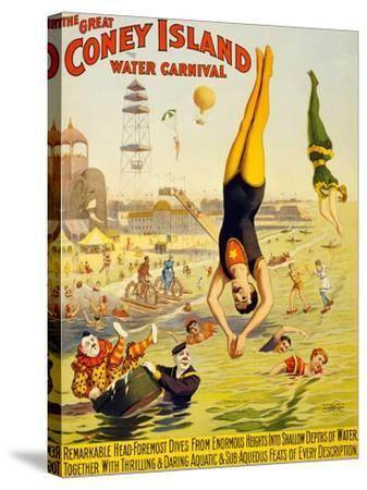 The Great Coney Island Water Carnival,--Stretched Canvas Print
