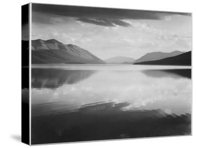 "Looking Across Lake Toward Mts ""Evening McDonald Lake Glacier National Park"" Montana 1933-1942-Ansel Adams-Stretched Canvas Print"