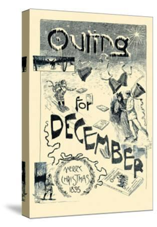 Outing For December. Merry Christmas 1895--Stretched Canvas Print