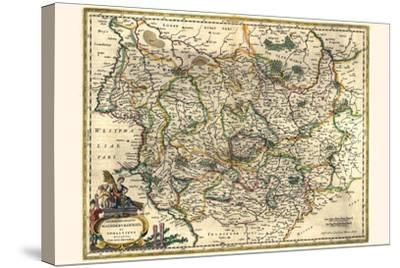 Archbishopric Of Magdeburg And The Duchy Of Anhalt-Willem Janszoon Blaeu-Stretched Canvas Print