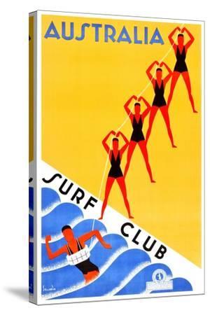 Australia Surf Club-Gert Sellheim-Stretched Canvas Print