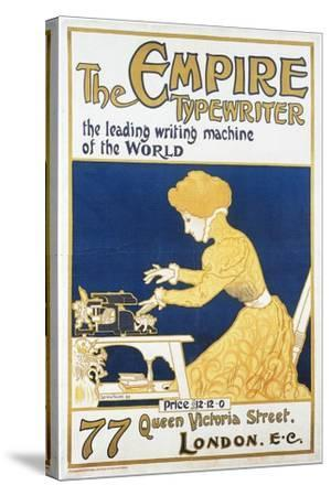 Empire Typewriter-Leading Machine In The World-Lucien Faure-Stretched Canvas Print