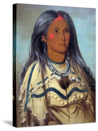 George Catlin Native American Maiden- Catlin-Stretched Canvas Print