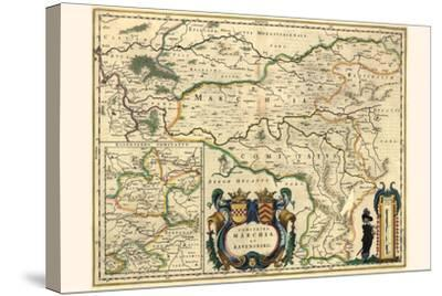 County Of Mark And Ravensburg-Willem Janszoon Blaeu-Stretched Canvas Print