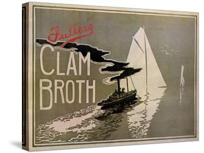 Fuller's Clam Broth-W. H. Walker-Stretched Canvas Print