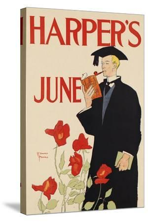 Harper's June-Edward Penfield-Stretched Canvas Print