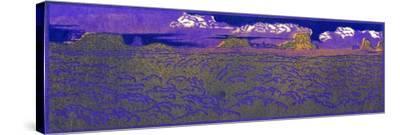 Evening On The Desert-Frank Redlinger-Stretched Canvas Print