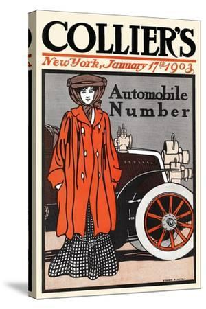 Collier's Automobile Number, New York, January 17th, 1903-Edward Penfield-Stretched Canvas Print