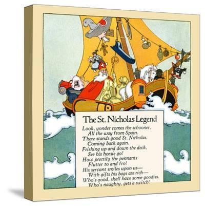 The St. Nicholas Legend- Maud & Miska Petersham-Stretched Canvas Print