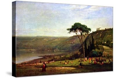 Albanersee-George Innes-Stretched Canvas Print