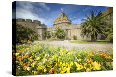 Saint Malo Castle In Bretagne-Philippe Manguin-Stretched Canvas Print