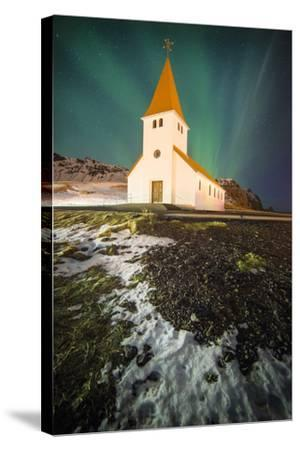 Vik Church-Philippe Manguin-Stretched Canvas Print