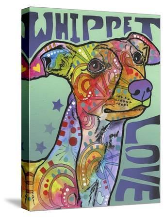 Whippet Love-Dean Russo-Stretched Canvas Print