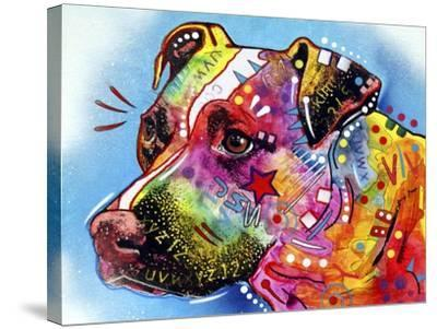 Pit Bull 1059-Dean Russo-Stretched Canvas Print