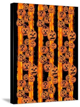 Pumpkin Patch Pals II-Nicholas Biscardi-Stretched Canvas Print