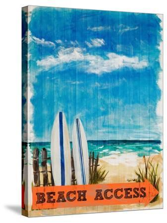 Beach Access-Julie DeRice-Stretched Canvas Print