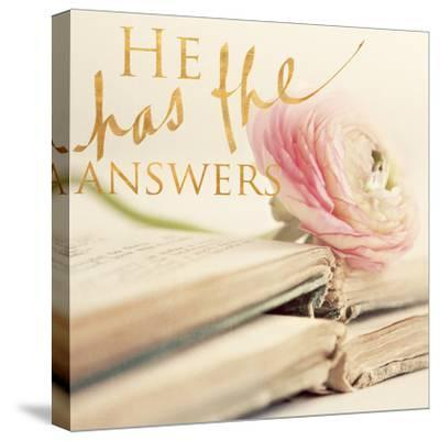 He has the Answers-Sarah Gardner-Stretched Canvas Print