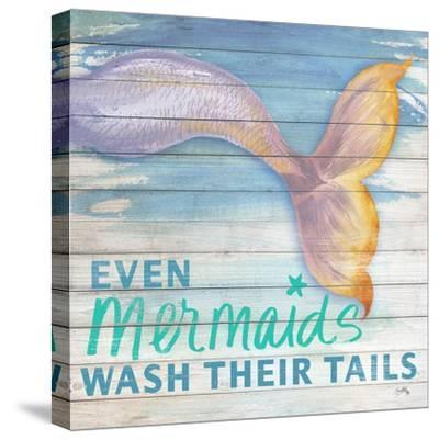Mermaid Bath II-Elizabeth Medley-Stretched Canvas Print