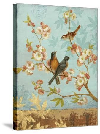 Robins & Blooms-Pamela Gladding-Stretched Canvas Print