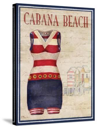 Cabana Beach-Paul Brent-Stretched Canvas Print