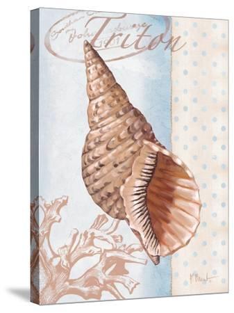 Beachhouse Blue II-Paul Brent-Stretched Canvas Print