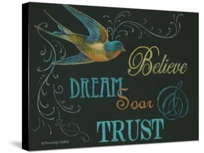 Believe & Bird-Gwendolyn Babbitt-Stretched Canvas Print