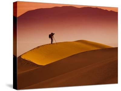 Mesquite Flat Dunes at Death Vakkey National Park-Gleb Tarro-Stretched Canvas Print