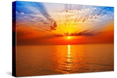 Sunrise in the Sea-merydolla-Stretched Canvas Print